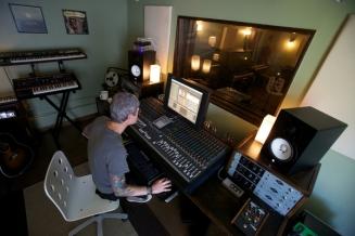 Graig working in the studio.