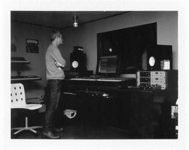 October 2010: Graig oversees the mixing board at our first party in the new studio.