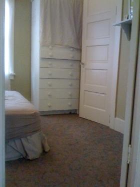 bedroom floor with carpet before