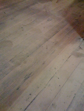 raw wood floors