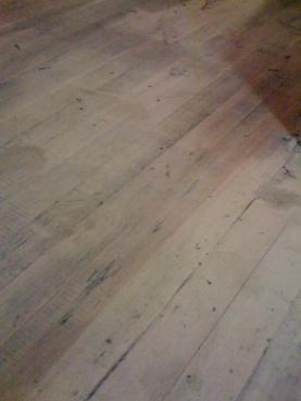 raw wood floors