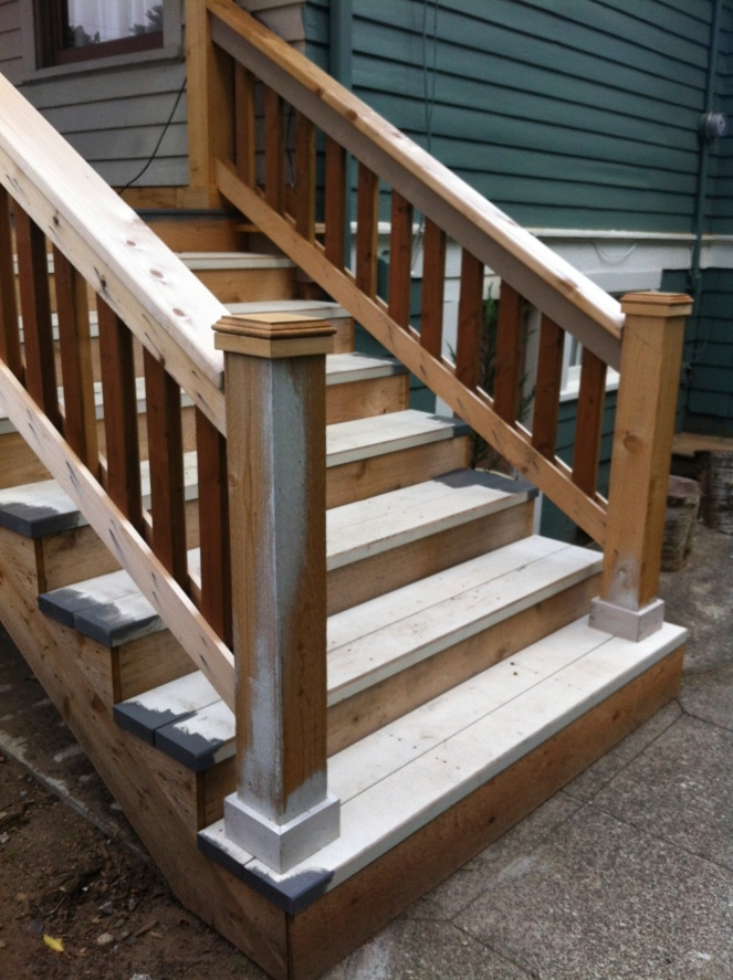 rock and nest porch remodel railing
