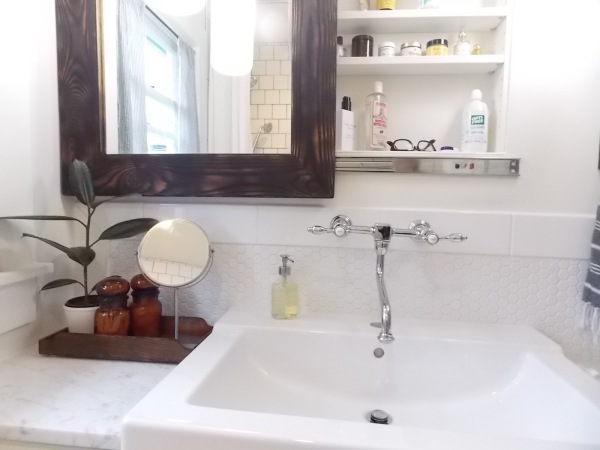 after bathroom vanity wall storage slider mirror rock and nest