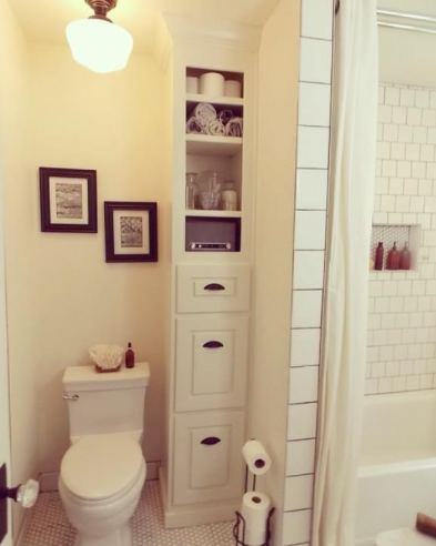 bathroom remodel custom tall cabinet by workbench design rock and nest seattle
