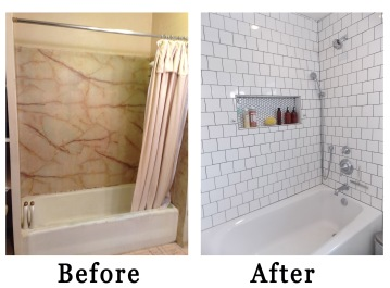before and after bathtub and shower rockandnest
