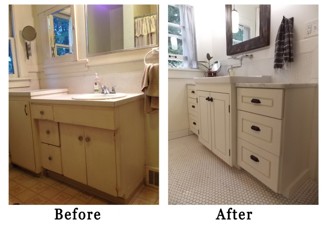 before and after vanity and sink rockandnest