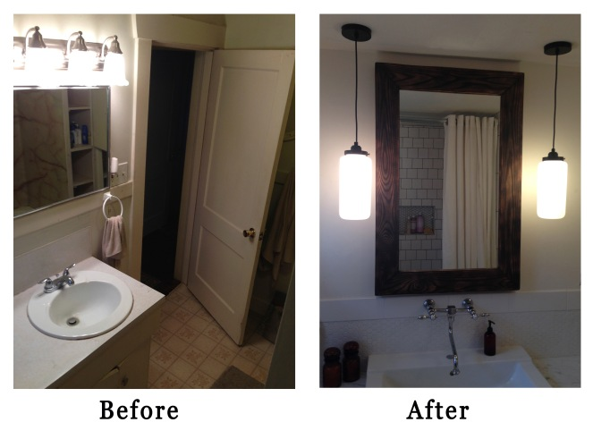 before and after vanity rockandnest