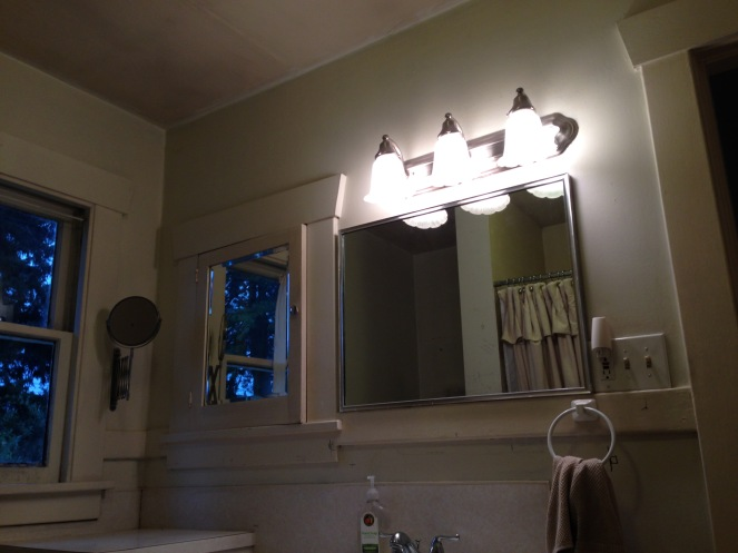 before bathroom lighting rockandnest