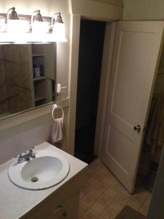 before bathroom sink mirror and vanity rockandnest