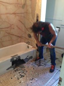 cast iron bathtub demolition 3 bailey rockandnest