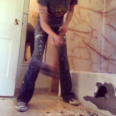 cast iron bathtub demolition 3 rockandnest
