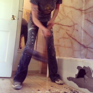 cast iron bathtub demolition 3 rockandnest