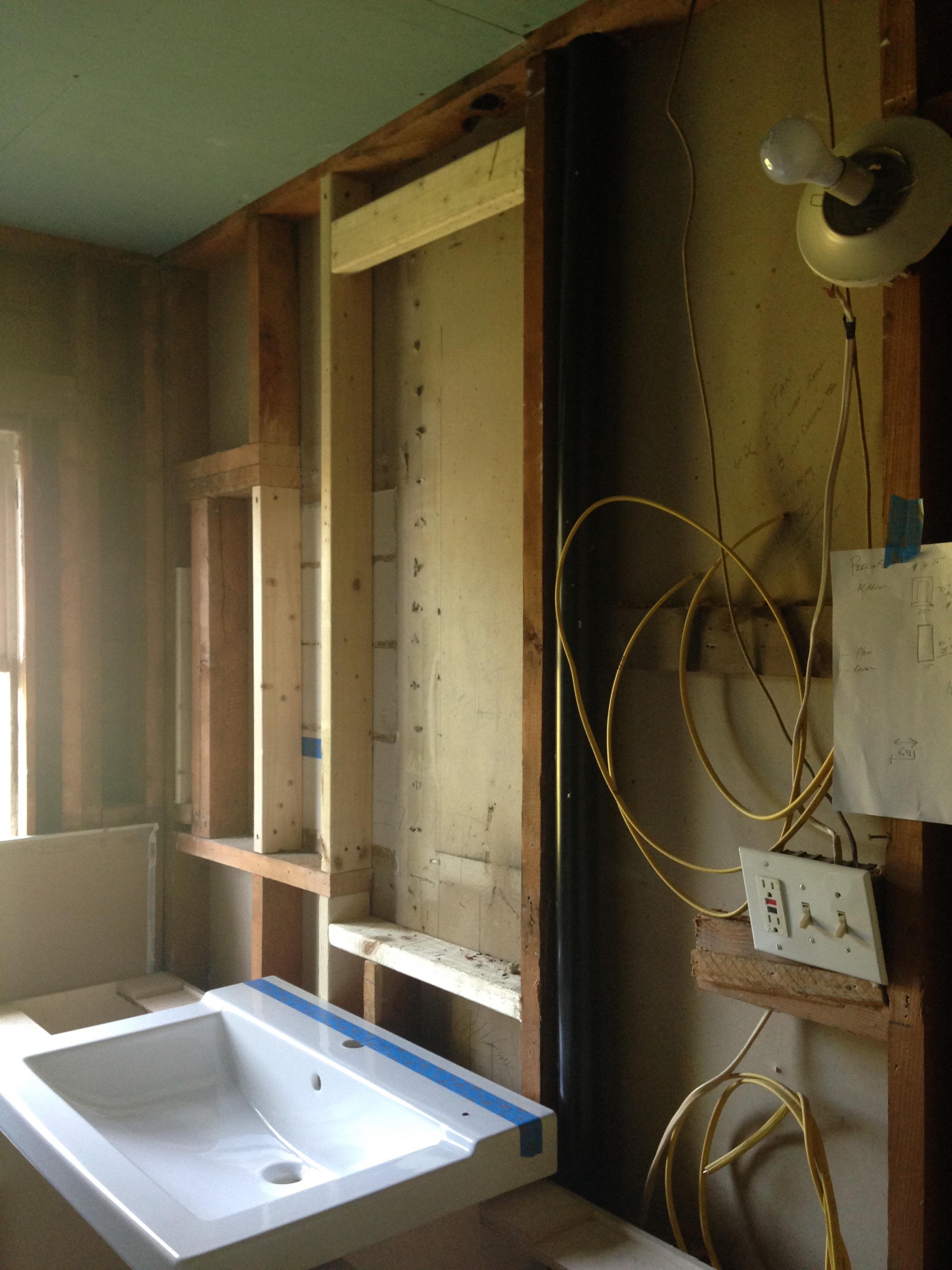 Framing Out Above Sink Medicine Cabinet Insert Rockandnest Rock Nest