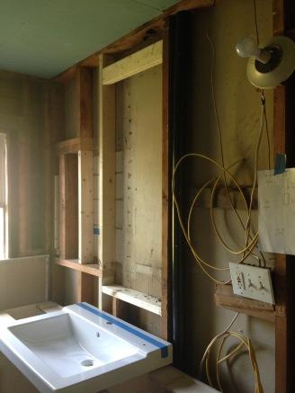 framing out above sink medicine cabinet insert rockandnest