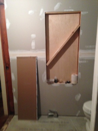 framing out large opening for bathroom sliding mirror rockandnest