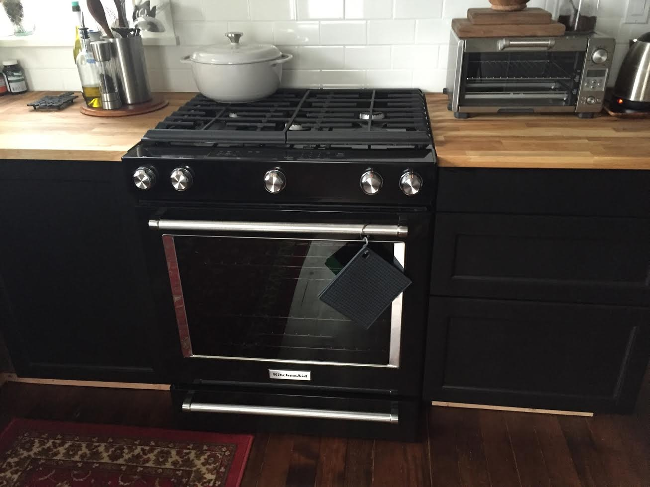 Kitchenaid Black Gas Range KSGG700EBL Rock And Nest 2