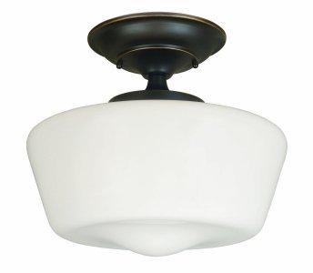 World Imports Lighting 9007-88 Luray 1-Light Semi-Flush Light Fixture, Oil Rubbed Bronze.jpg